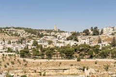 View of Bethlehem and olive mountain- the birthplace of Jesus Christ Royalty Free Stock Image