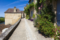 View of Beynac-et-Cazenac Stock Photos