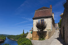 View of Beynac-et-Cazenac Stock Photography