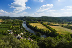 View from Beynac-et-Cazenac Stock Image