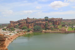 View of bhoothnath cave temple complex, Badami Caves Royalty Free Stock Photo