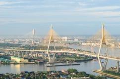 View of the Bhumibol bridge. The View of the Bhumibol bridge Royalty Free Stock Photo