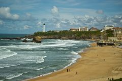 View of Biarritz city, France Royalty Free Stock Photography