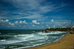 View of Biarritz city, France Stock Images