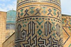 Bibi-Khanym mosque Samarkand, Uzbekistan. View on the Bibi-Khanym mosque, one of the Islamic world's biggest mosques, built by Timur in 15th century stock image