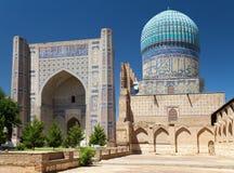 View from Bibi-Khanym mosque. Registan - Samarkand - Uzbekistan stock image