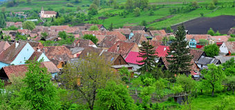 View of Biertan village, transylvania province, Romania Royalty Free Stock Photos