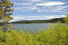 View of Big Bear Lake Royalty Free Stock Photos