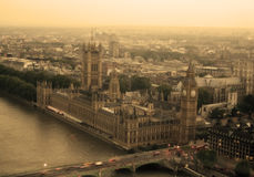 View of big ben. Top view of the big ben sepia Royalty Free Stock Photos