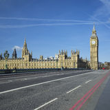 View of Big Ben from the bridge Royalty Free Stock Photography