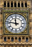 View of Big Ben. View of the Clock Face of Big Ben at the Houses of Parliament in London Stock Images