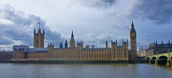 View of Big Ben. In thames river in London uk,in a summer day Stock Image