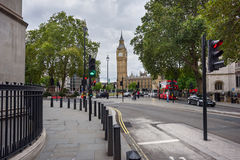 View of the Big Ben Tower in Westminster, London, UK. Royalty Free Stock Photo