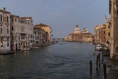 View of Big Canal in Venice Royalty Free Stock Photo