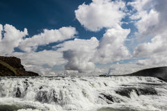View on big Gullfoss waterfall on Iceland Royalty Free Stock Photography