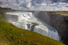 View on big Gullfoss waterfall on Iceland Stock Images