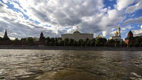 View on big kremlin palace from moscow river. In summer day Royalty Free Stock Photography