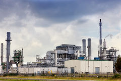 View of big oil refinery Royalty Free Stock Images