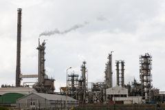 View of big oil refinery Stock Photography