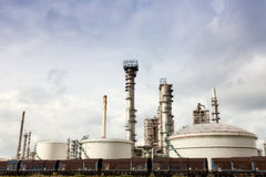 View of big oil refinery Royalty Free Stock Photos