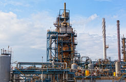 View of big oil refinery Royalty Free Stock Photography