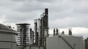 View of big oil refinery stock video footage
