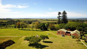 View From The Big Pineapple, Summer Hill Farm. This pineapple on Summer Hill farm in Bathurst, Eastern Cape Province, South Africa, is reputed to be the largest Royalty Free Stock Photos