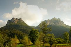 View Big Rozsutec peaks, Little Fatra hills, Slovakia, Europe Stock Image