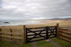 View of The Big Strand Beach, Laggan Bay, Islay, Scotland. Stock Photos