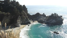 A view of the Big Sur. A picture of a view of the Big Sur, California USA, taken during a sunny day in the fall at a daytrip Stock Image