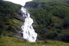 View of the big waterfall. Jotunheimen National Park. Norway