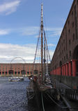 A View of the Big Wheel from Albert Dock, Liverpool Stock Image