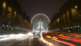 View of big wheel in Paris Royalty Free Stock Photography