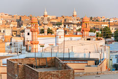 View of Bikaner at sunset, India. Royalty Free Stock Image
