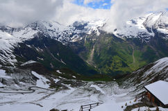 View from the Biker Point. The highest  mountains  in Austria Royalty Free Stock Photo
