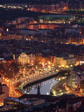 View of Bilbao at Twilight. Bilbao at Twilight, Basque Country, Spain Royalty Free Stock Photo