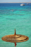View bildar havsstranden under hoad sommardag Arkivbilder