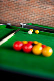 View of a billiard table Royalty Free Stock Photo