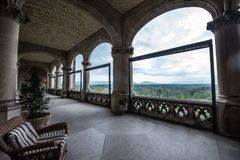 View from Biltmore Estate. Stunning view from the Biltmore Estate in Asheville, North Carolina stock photos