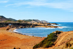 View of Binimela beach in MenorcaSpain Royalty Free Stock Photography