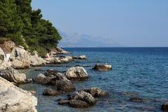 View of Biokovo mountains in Croatia. Biokovo mountains, Croatia. View of adriatic sea coast Royalty Free Stock Images