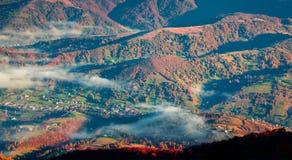 View from a bird's eye of Kolochava village Royalty Free Stock Image