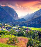View from a bird's eye of Oetz village Royalty Free Stock Image