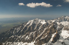 View from the bird's-eye view of the mountains! Royalty Free Stock Image