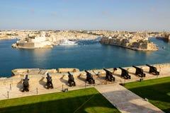 The view on Birgu and yacht marina Royalty Free Stock Photos