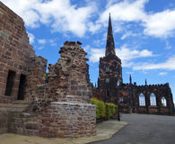 A View of Birkenhead Priory and St. Mary's Tower Stock Images