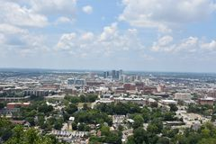 View of Birmingham, Alabama. From Vulcan Park stock image