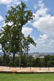 View of Birmingham, Alabama. From Vulcan Park Stock Photos