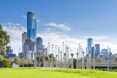 View of Birrarung Marr Park in Melbourne Royalty Free Stock Images