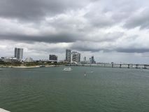 View of Biscayne Bay, Miami, Florida Royalty Free Stock Images
